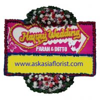 Bunga Papan Happy Wedding B01