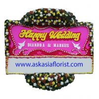 Bunga Papan Happy Wedding B03