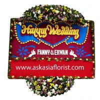 Bunga Papan Happy Wedding C02