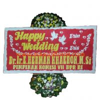 Bunga Papan Happy Wedding B04