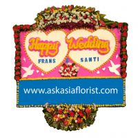 Bunga Papan Happy Wedding C03